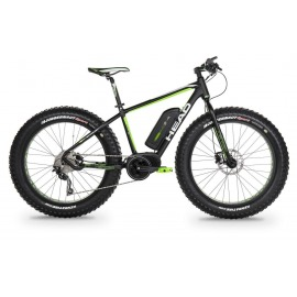 "Bicicleta Electrica fat bike HEAD E-RANDALL 26"" negro mate/verde 2018"
