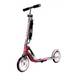 "City Scooter Big Wheel Hudora Alu 8"" 205 magenta/plata 205mm"