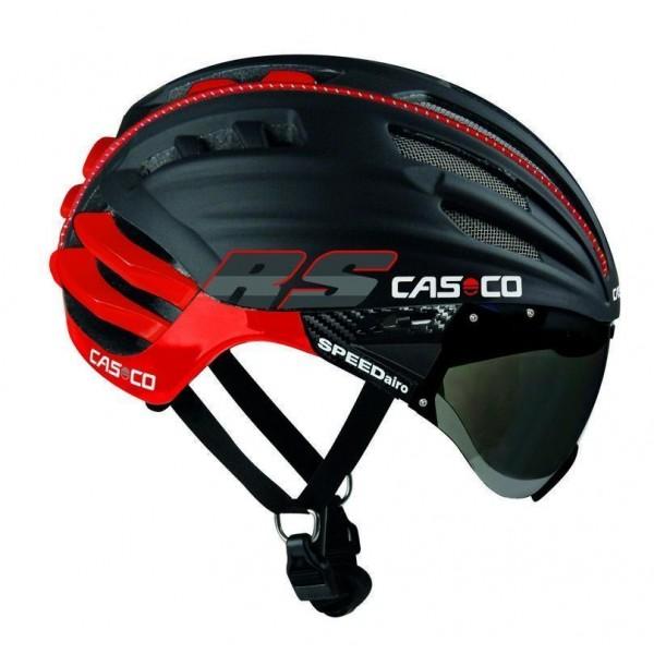 Casco carretera CASCO SPEEDairo RS negro-rojo con visor fotocromatico