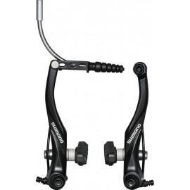 V-Brake Shimano BR-T 4000L RD, negro, con guía de cable