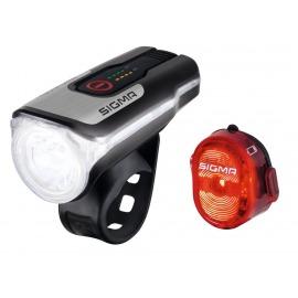 Set luces LED a batería Sigma Aura80 USB incl. Nugget II