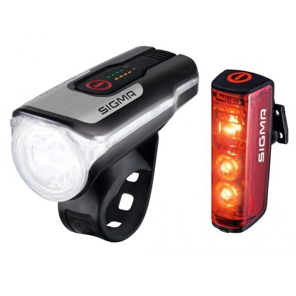 Set luces LED a batería Sigma Aura80 USB incl. Blaze