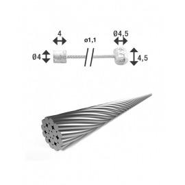 XLC Cable de cambio Ø 1,25/ 2250mm 2 boquillas