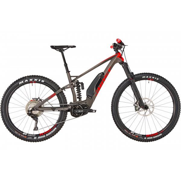 "Bicicleta Electrica Ghost Hybride SL AMR S 6.7+ LC 29/27,5+"", titanium gray/riot red/star white 2019"