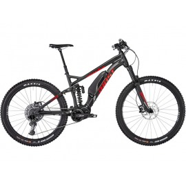 "Bicicleta Electrica Ghost Hybride SL AMR S 2.7+ AL 29/27,5+"", night black/riot red/iridium silver (2019)"