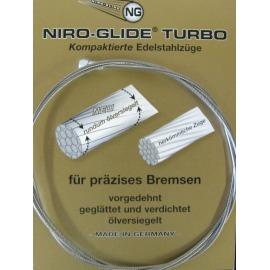 Cable freno acero inox.boquilla transv. 800 mm1,5 mm Ø, embalaje individual