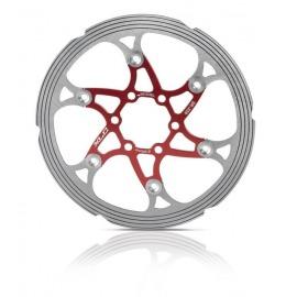 XLC disco de frenos BR-X59 Ø 203 mm rojo/plata,CNC anillo de fricc.