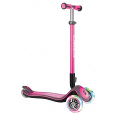 scooter Globber Elite Lights Deluxe pink w. light wheels