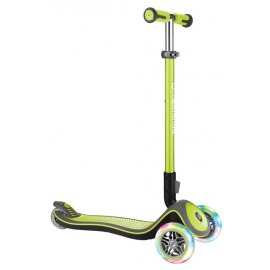 scooter Globber Elite Lights Deluxe green w. light wheels