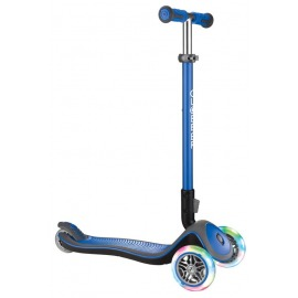 scooter Globber Elite Lights Deluxe navy blue w. light wheels