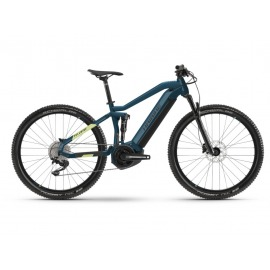 """Bicicleta Electrica doble suspension 29"""" Haibike FullNine 5 i500Wh 11-G Deore blue/canary 2021"""