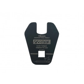 """crowfoot pedal wrench Pedros 3/8"""" drive, 15mm"""