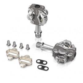 XLC pedal System PD-S15 gris/plata , bilateral