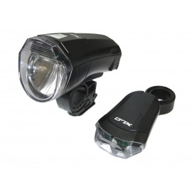 XLC set luces LED a pilas CL-S14 negro