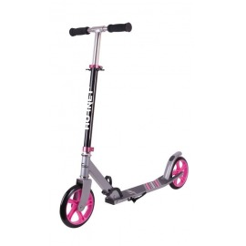 "City Scooter Hornet Alu/acero 8"" 200 negro/rosa 200mm"