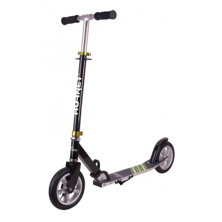 "City Scooter Hornet Hudora 8"" 200 Air negro/verde 200mm"