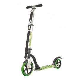 "City Scooter Bold Wheel Hudora Alu 9"" 205 verde-negro 230mm"