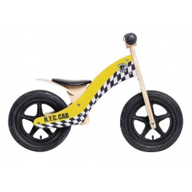 "Bici aprendizaje Rebel Kidz Wood Air madera, 12"", Taxi amarillo"