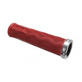 Puños T-One DOT rojo / gris, 1x tornillo de seguridad